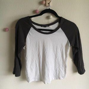 Brandy Melville Cropped Baseball T Shirt